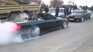 E36 cabrio -Turkey burnout