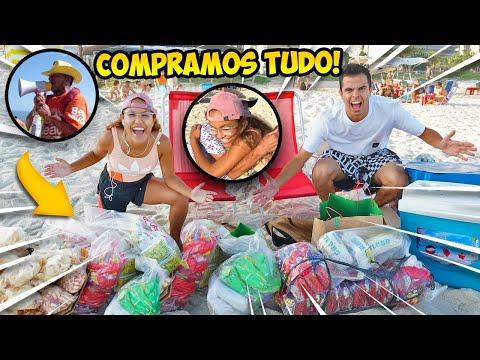 COMPRAMOS TUDO DOS VENDEDORES DE PRAIA! - KIDS FUN