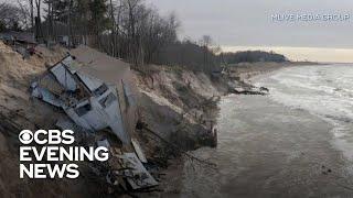 Lake Michigan Erosion Has Homes Crumbling Into The Water
