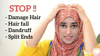 HAIR CARE MISTAKES For Hair FALL , ROUGH, DAMAGE, DRY & FRIZZY Hair