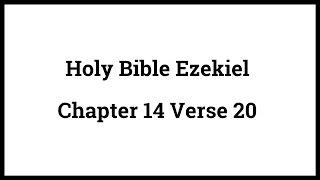 Holy Bible Ezekiel 14:20