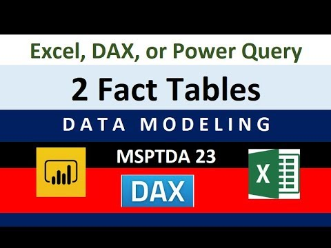 MSPTDA 23: Two Fact Tables? DAX, Power Query Or Worksheet