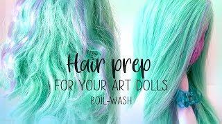 Hair Prep - How To Fix Art Doll Hair, Boil Wash, OOAK