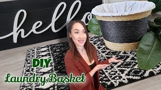 DIY Laundry Basket / How To Make A Laundry Basket