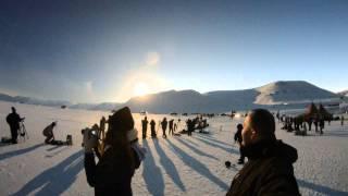 preview picture of video 'Zaćmienie Słońca w Longyearbyen 20.03.2015'