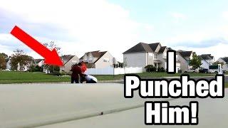 PUNCHING MY STALKER KILLER CLOWN! *HE HAD A AIRSOFT GUN*