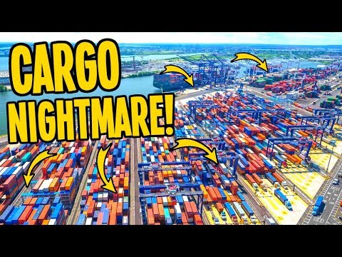Extreme Cargo Traffic that made me want to QUIT Cities Skylines...!