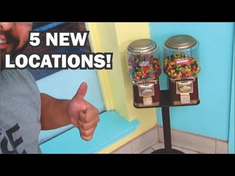 Got 5 new locations for my candy machine business
