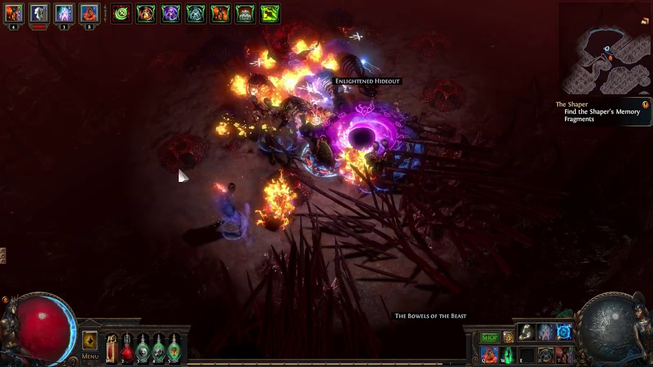 3 0 Hardcore Life Based Golemancer W Spectres Poe 3 0 Witch Build Build Of Exile Playing with the new block tiles. build of exile