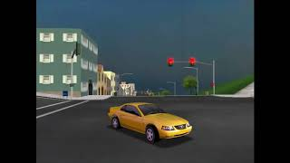 A nice beautiful day in San Francisco. Reverse driving in my 1999 Mustang