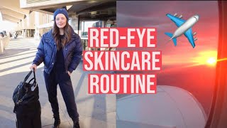 Airplane Skincare Routine | How To Look Fresh After A Long Flight | Emily DiDonato