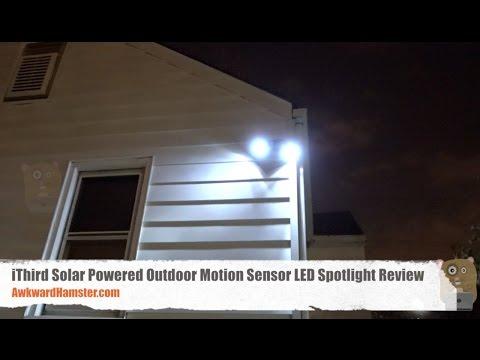 iThird Solar Powered Outdoor Motion Sensor LED Spotlight Review