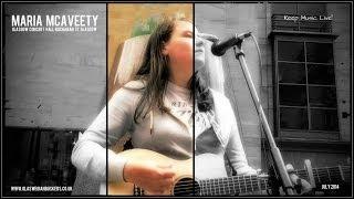 Maria McAveety Soulful Singing Buchanan Street Glasgow Scotland