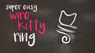DIY How To Make An Easy Wire Cat-ring. Easy Wire Wrapping