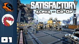 Let's Play Satisfactory [Alpha - Co-Op w/ Aavak] - PC Gameplay Part 1 - 100% Sensible Industries