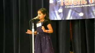 KAGW Talent Time 2012 - Shriya's English Recitation - Daffodils