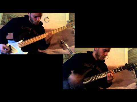 Muse - Hysteria (bass & guitar cover)