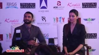 Ranveer & Deepika At Bajirao Mastani's Delhi Promotion