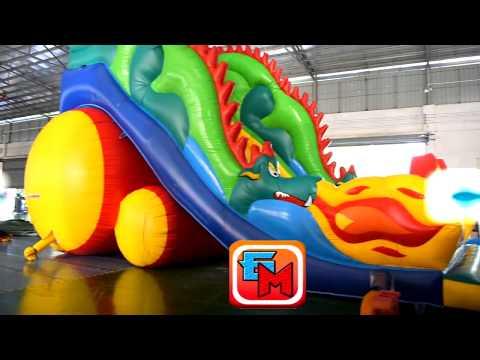 Высокая горка Огненный дракон, 11x6x9 м.