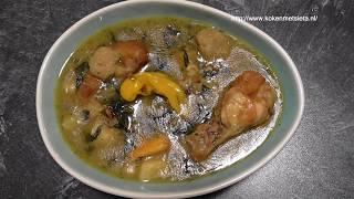 Surinaamse Bravoe Soep (Met warme vis/kip en vegetarisch