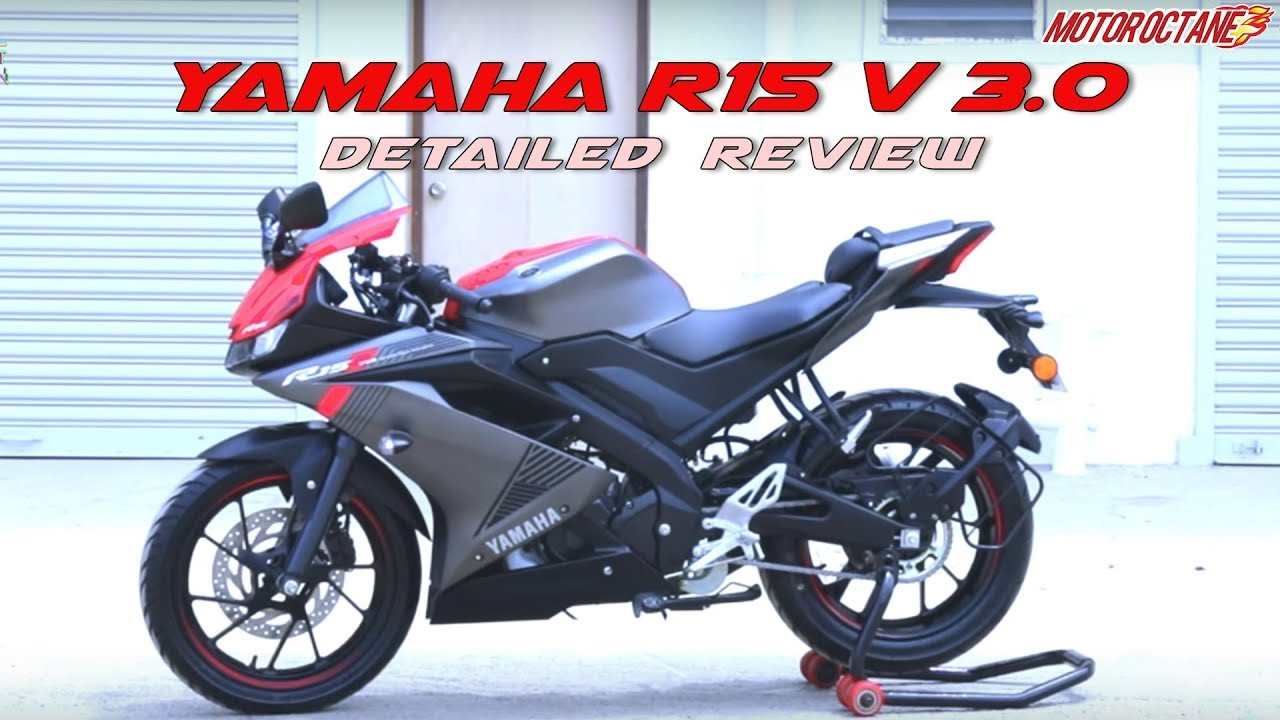 Motoroctane Youtube Video - Yamaha R15 V3 Review in Hindi | MotorOctane