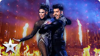 HOT! HOT! HOT! Aaron and Jasmine ROCK the stage with FIERY performance | Semi-Finals | BGT 2020