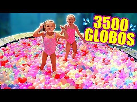 CAMA ELÁSTICA vs 3500 GLOBOS de AGUA💦 Itarte Vlogs