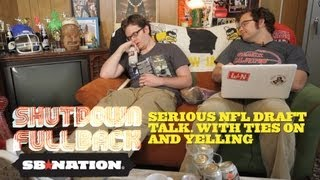 SERIOUS NFL DRAFT TALK. With Ties on and Yelling - Shutdown Fullback: 2nd Quarter thumbnail