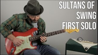 """Sultans of Swing"" First Solo Guitar Lesson - Dire Straits, Mark Knopfler"
