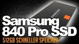 Samsung 840 Pro SSD-Festplatte 512GB eingebaut und gecloned