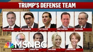 President Donald Trump Zeroes In On Defense Team As Trial Begins | Deadline | MSNBC