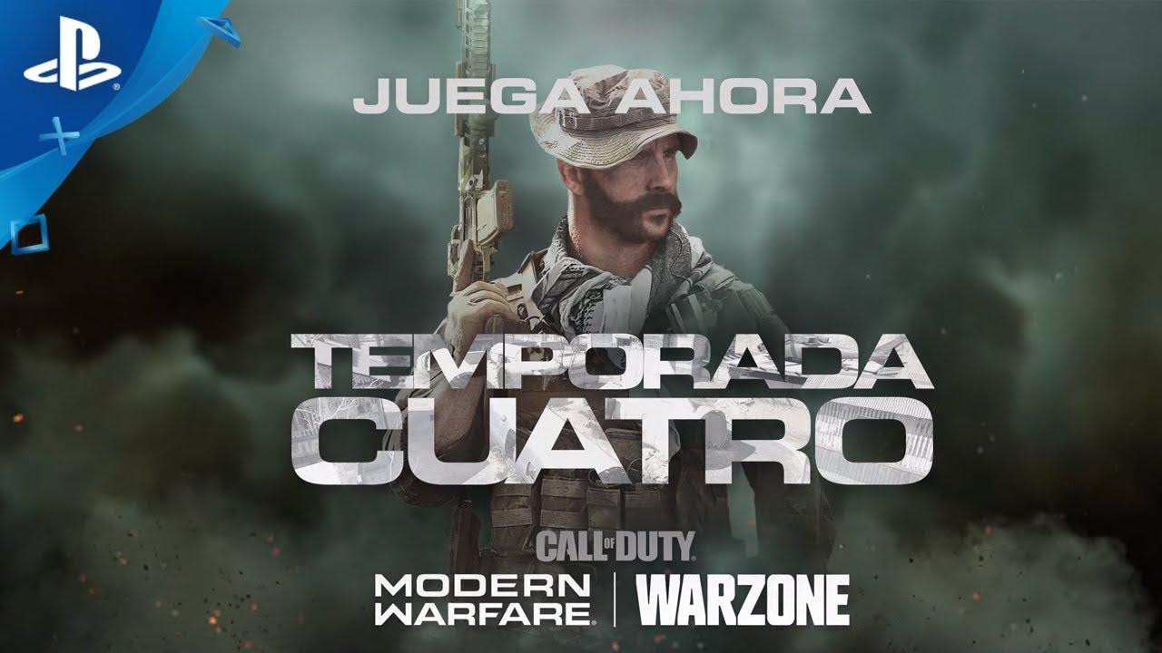 La cuarta temporada de Modern Warfare incluye contenido exclusivo para PlayStation, disponible para Modern Warfare y Warzone
