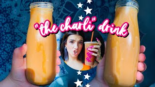 "How To Make ""The Charli"" Drink At Home! | Dunkin Donuts ""The Charli"" Drink Recipe | Paola Espinoza"