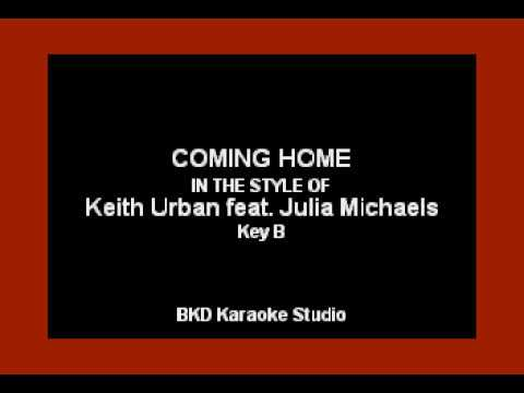 Keith Urban & Julia Michaels - Coming Home (Karaoke with Lyrics)