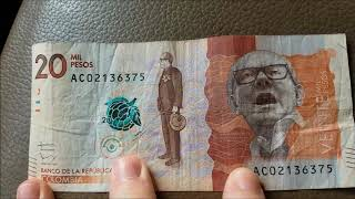 What can I buy with $20,000 Colombian Pesos? (Veinte Mil Pesos) Colombia Man!
