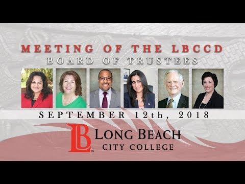 LBCCD - Board  of Trustees Meeting - September 12, 2018