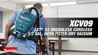 MAKITA 18V X2 LXT® (36V) Brushless 1/2 Gallon HEPA Filter Backpack Dry Vacuum - Thumbnail