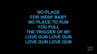 Love Gun in the style of Kiss karaoke video with lyrics - YouTube