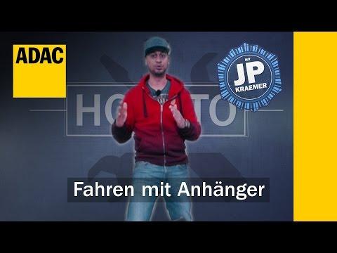 ADAC How To Fahren mit Anhänger mit Jean Pierre Kraemer | ADAC