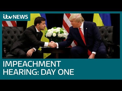 Impeachment hearings against Trump kick off in Washington DC | ITV News