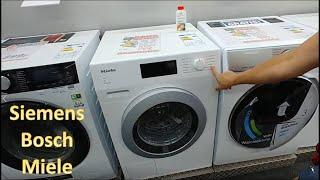 Waschmaschine Kauf Siemens Bosch Miele. Miele hält länger, Siemens ist billiger, Eco läuft 5 Stunden