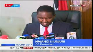 CS Kiunjuri issues dates and details for assumption of office