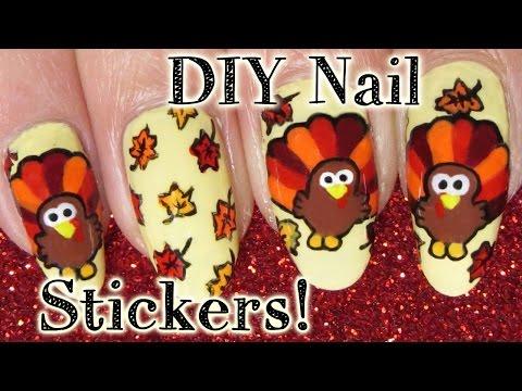 Fun DIY Thanksgiving Turkey Holiday Nail Art Tutorial