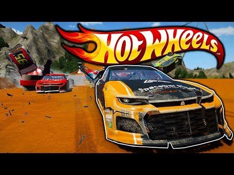 Insane New Hot Wheels Track Vs Nascar Stock Car! - Wreckfest Mod Gameplay