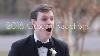 2018 Emotional And Crying Grooms When Seeing Their Beautiful Brides!!!