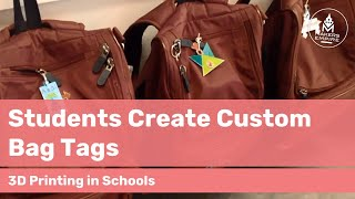 Grade 1 Forbes Primary School students use 3D printing to create bag tags