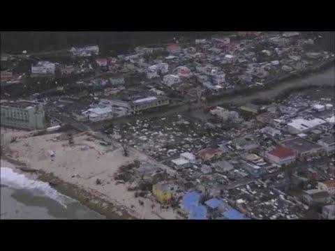 Εικόνες βιβλικής καταστροφής από το πέρασμα της «Ίρμα»