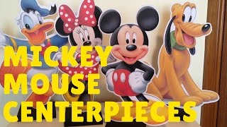 How To Make Mickey Mouse & Minnie Mouse Centerpiece Party Decorations