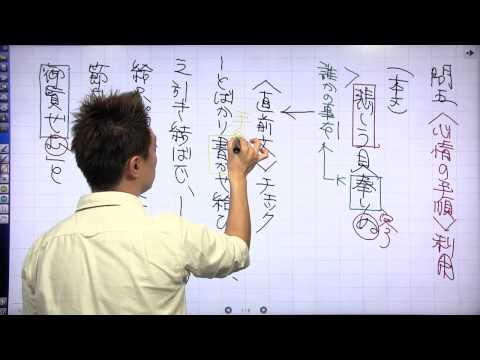 佐藤の「神ワザ」古文 #031 客観演習問題4−6