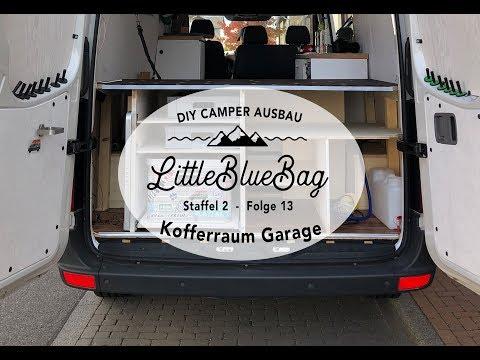 Umbau der Kofferraum Garage im Camper - Selbstausbau zum Wohnmobil